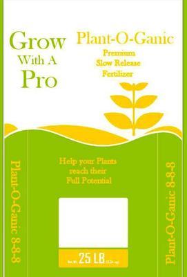 Plant O Ganic Fertilizer 25 Lbs.